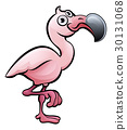 flamingo, cartoon, animal 30131068