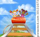 Riding Roller Coaster 30131073