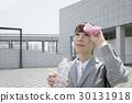 超越措施熱抑制的女商人測量水合作用 30131918