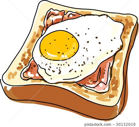 white bread, eggs sunny side up, baker 30132019