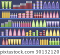 Cosmetic supplies in the supermarket 30132120