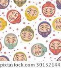 Daruma Dolls Seamless Pattern 30132144