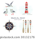 Set of Nautical Vector Pictures 30132176