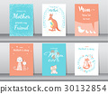 Set of Happy Mother's Day card,poster,template,gre 30132854