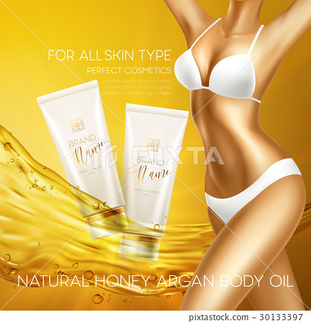 Sun protection cosmetic products design template 30133397