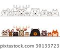 動物 一組 畫線 30133723