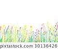 Watercolor illustration flower garden frame 30136426