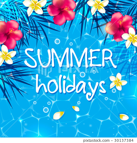 Blue summer background 30137384
