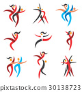 Modern Dancing Icons 30138723