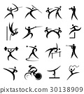 Summer Sport Games Icons Set 30138909