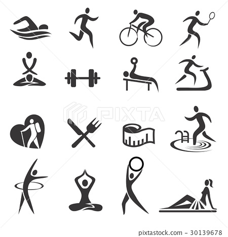 Healthy Lifestyle Sport Icons 30139678