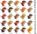 collection, different, herb 30139680