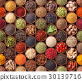 Seamless texture with spices and herbs 30139716