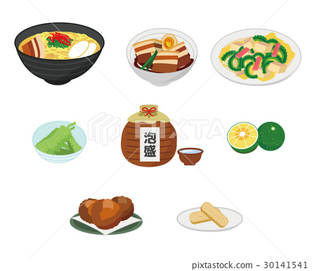 Illustration set of Okinawa cuisine 30141541