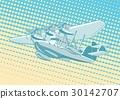 vector, cartoon, retro 30142707