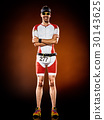 man  runner running triathlon ironman isolated 30143625