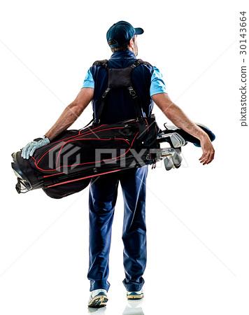 man golfer golfing isolated withe background 30143664