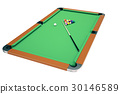 3D illustration pool billiard game. American pool 30146589