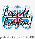 Print with lettering about London 30148499