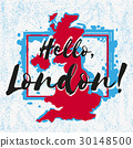 Print with lettering about London 30148500