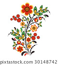 Floral ornament in Hohloma style. Russian folklore 30148742