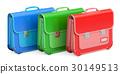 Set of schoolbags, briefcases. 3D rendering 30149513