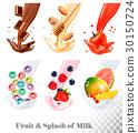 milk, label, fruit 30150724