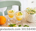 涼爽,美味的橙色果凍 30156490