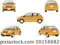 하이브리드 자동차 5 컷 (오렌지) 30156682
