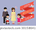Happy family with happy mothers day banner 30158641