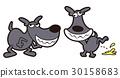 dog, dogs, black 30158683