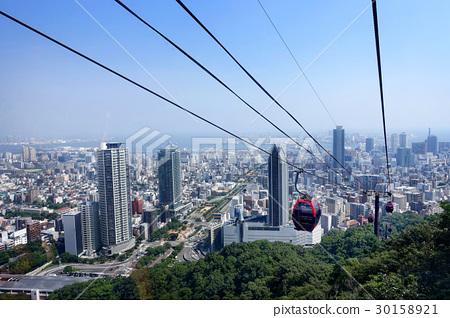 Kobe city view from Shin-Kobe ropeway,Japan. 30158921