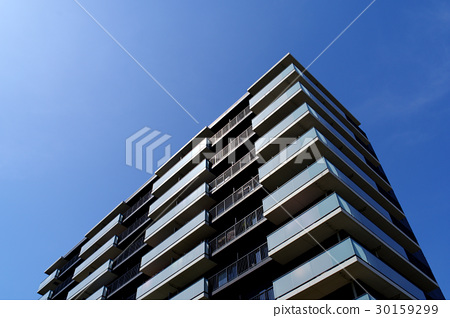 푸른 하늘과 햇빛 아파트 30159299