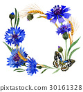 Wildflower carnation flower frame in a watercolor 30161328