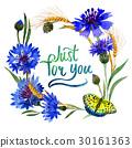 Wildflower carnation flower frame in a watercolor 30161363