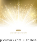 golden background sunbeam with gold glitter vector 30161646