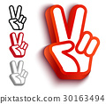 hand vector two 30163494