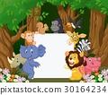 animal cartoon sign 30164234