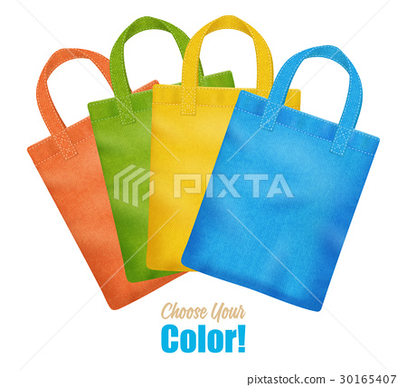 Colorful Canvas Tote Bags Collection Advertisement 30165407