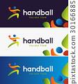Handball vector banner. Abstract colorful 30166885