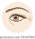 皺紋身體部位在眼睛前視圖 30167060