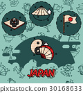 Japan flat concept icons 30168633