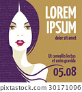 Design template with face of a beautiful woman  30171096