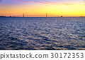 Sunset over Straits of Mackinac 30172353