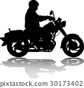 motorcycle, rider, silhouette 30173402
