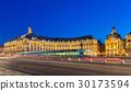 Tram on Place de la Bourse in Bordeaux, France 30173594