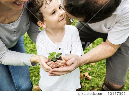 Kid Gardening Greenery Growing Leisure 30177392