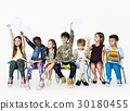 Group of students educated child development 30180455