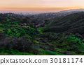 Beautiful nature landscape with hills green grass 30181174