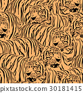 Abstract Tiger seamless pattern.  30181415